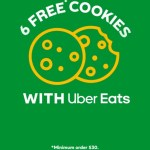 DEAL: Subway – 6 Free Cookies with $30 Spend via Uber Eats