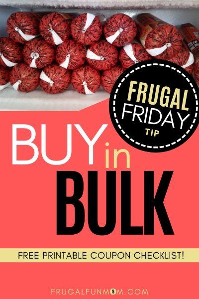 Buy In Bulk - Frugal Friday Tip #8 | Frugal Fun Mom