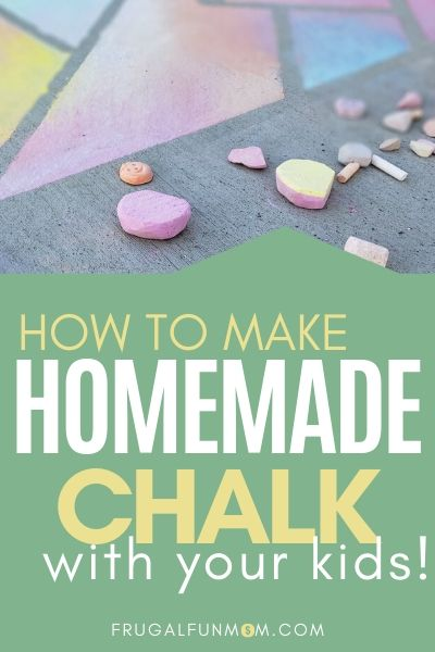 How To Make Homemade Chalk | Frugal Fun Mom