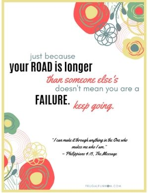 Keep Going Print Able Quote | Frugal Fun Mom