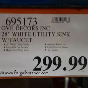 costco ove 28 utility sink cabinet