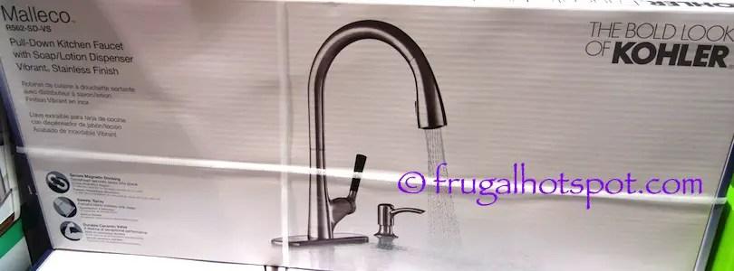 kohler malleco pull down kitchen faucet