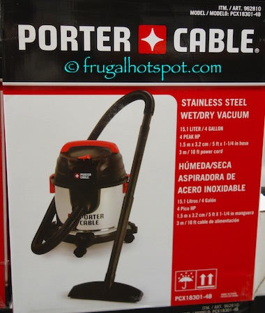 Costco Sale Porter Cable SS Wet Dry Vacuum 2499 Frugal Hotspot