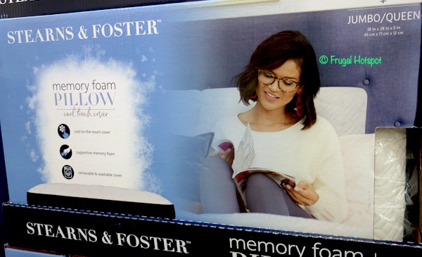 stearns foster memory foam pillow 23 99