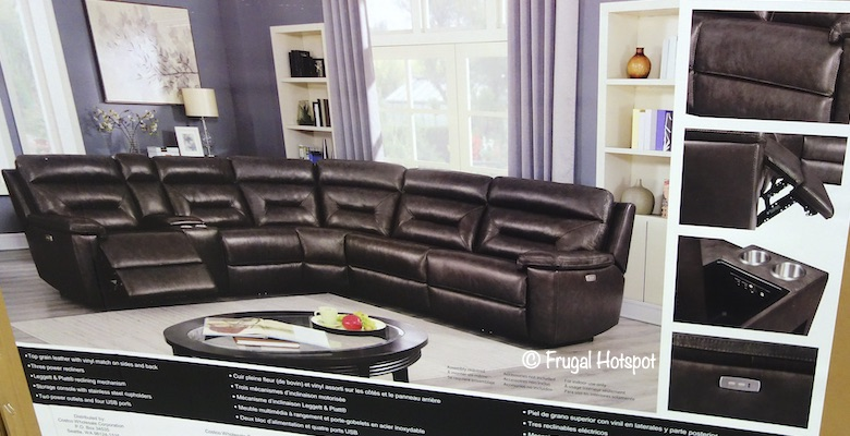 corry leather reclining sectional