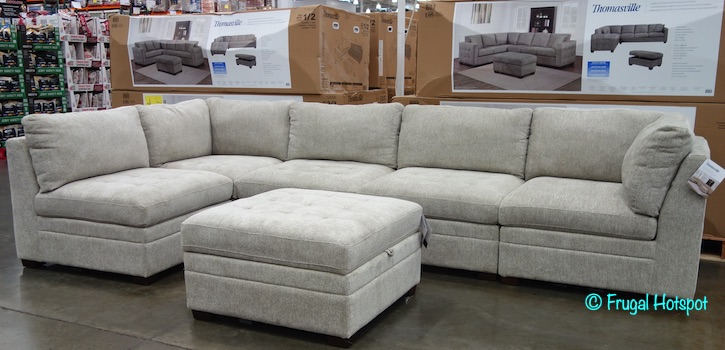 thomasville modular fabric sectional