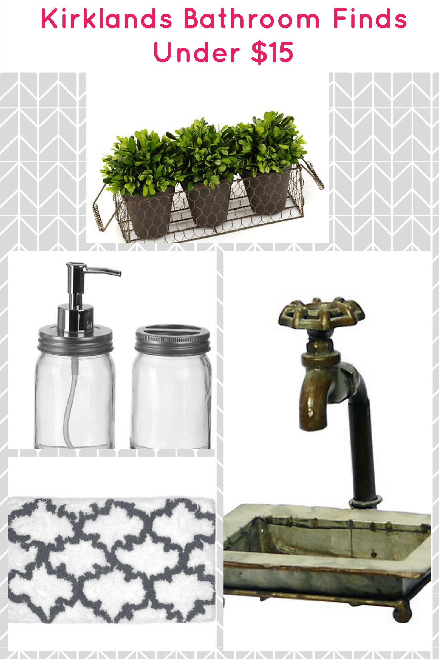 Exceptional Top 5 Farmhouse Bathroom Accessories From Kirklands Under $15