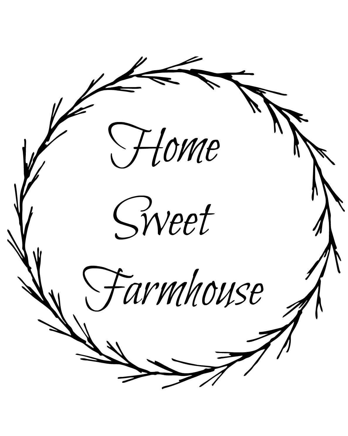 image relating to Farmhouse Printable identified as Frugally Superior Freebie Friday - Residence Adorable Farmhouse