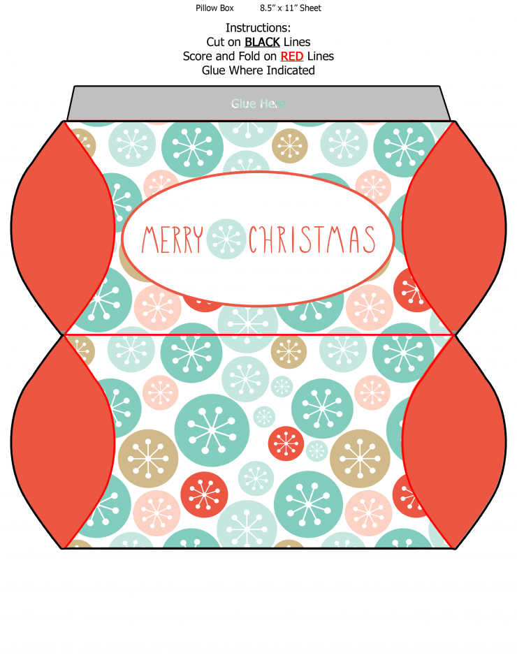 Free Printable Christmas Pillow Boxes Frugal Mom Eh