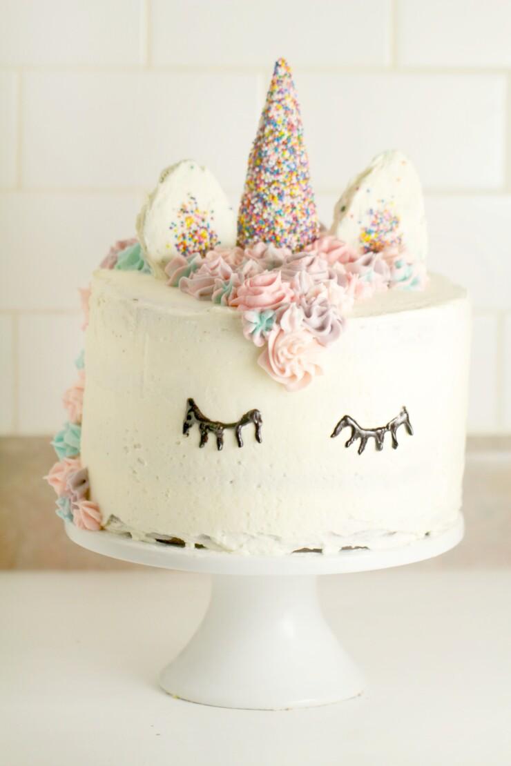 Unicorn Cake With Rainbow Layers Frugal Mom Eh