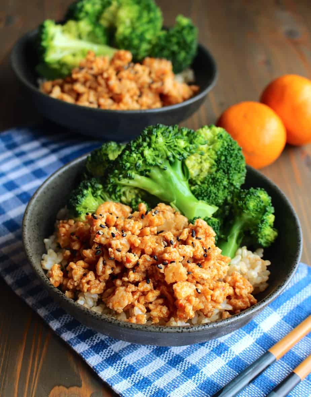 Orange Ground Chicken Rice Bowls Frugal Nutrition