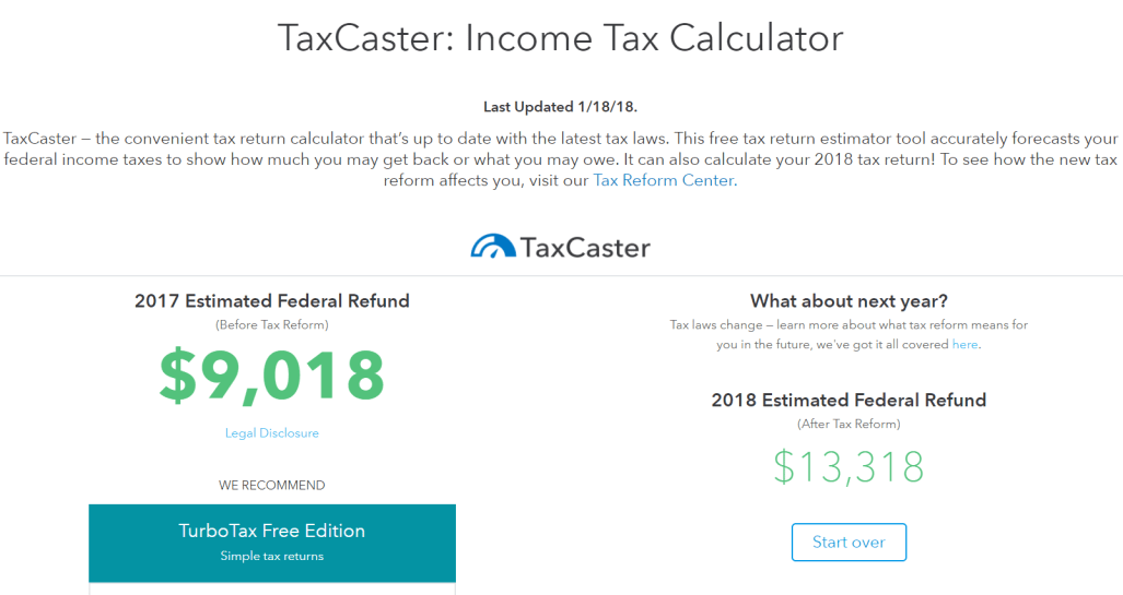 payroll withholding calculator 2018