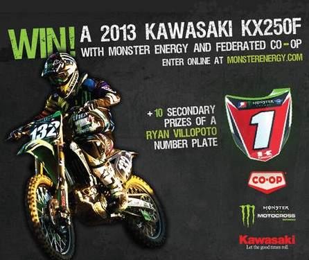 WIN A 2013 KAWASAKI KX 250