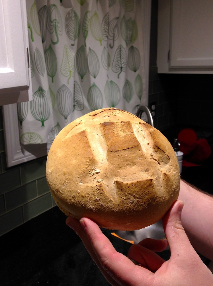Mr. FW shows off his homemade artisan boule