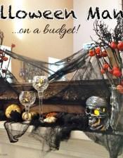 Spooky Halloween Mantel on a Budget