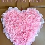 Valentine's Rose Petal Heart
