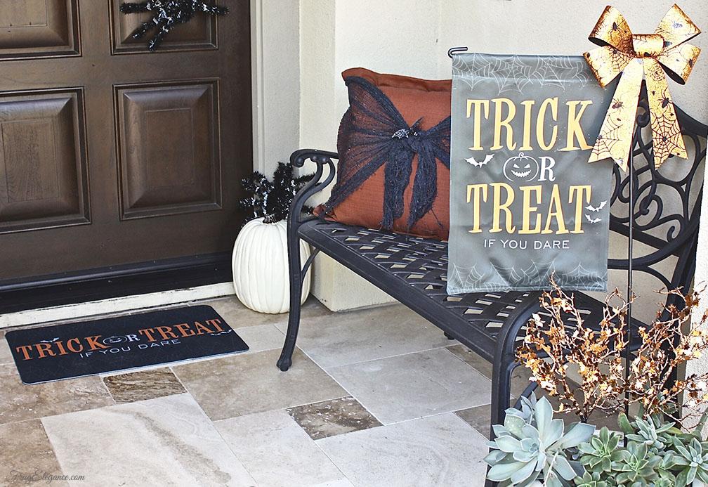 Easy Halloween Front Door Decor Frugelegance