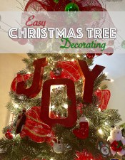 Easy Christmas Tree Decorating