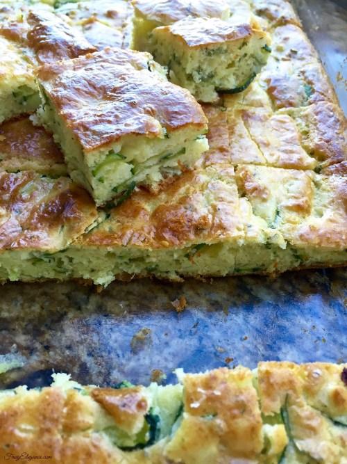 Zucchini Appetizer Squares | FrugElegance | www.frugelegance.com