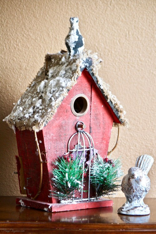 A Christmas Cottage by FrugElegance.com
