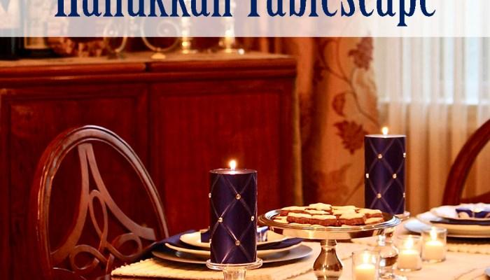 Simple & Elegant Hanukkah Tablescape