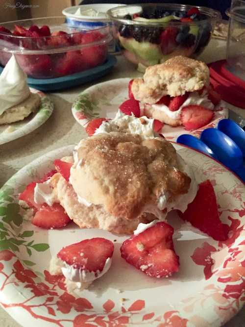 Quick Strawberry Shortcake Dessert at FrugElegance.com