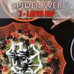 Halloween Spider Web 7 Layer Dip