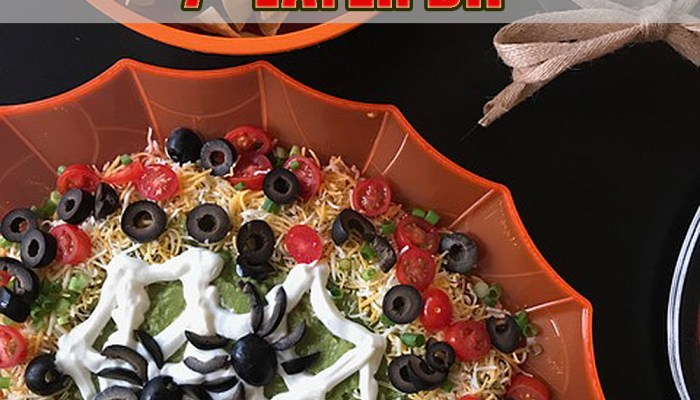Halloween Spider Web 7 Layer Dip