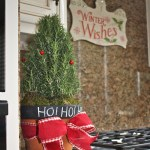 Christmas Kitchen Decor with a Potted Rosemary Plant