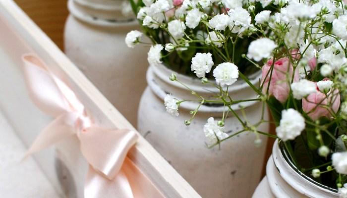 Valentine's Mason Jar Vases