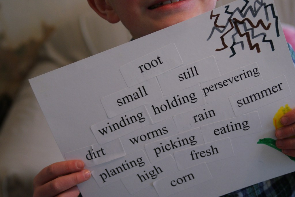 root - small, still... high, fresh corn diamante poem fun for National Poetry Month