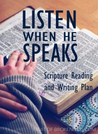 Join us for the Listen When He Speaks Scripture Reading and Writing Plan
