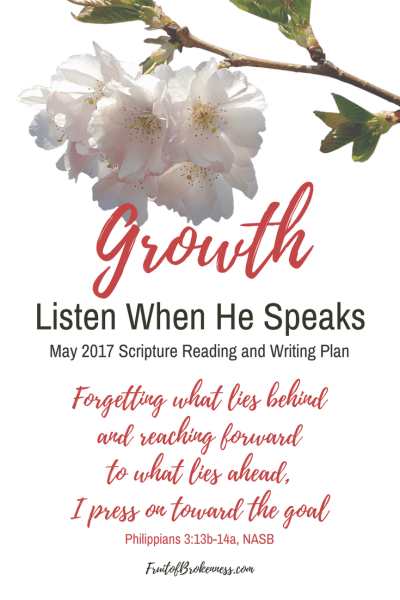 As we explore our theme of GROWTH in May, we'll visit the Old and New Testament for snapshots of God's work in His children's lives and how we can pursue spiritual growth. Care to join us?