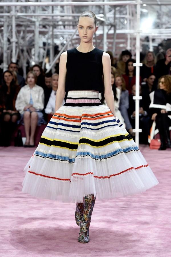 Model wearing Christian Dior