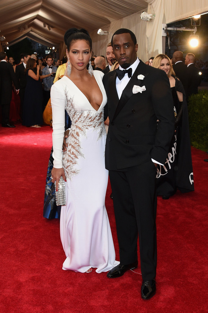 Cassie and P.Diddy met ball 2015 celebrity