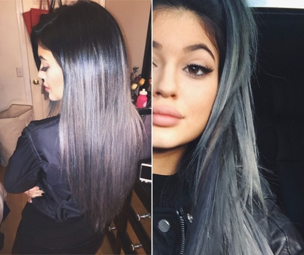 Picture of Kylie Jenner with grey/greenish tint