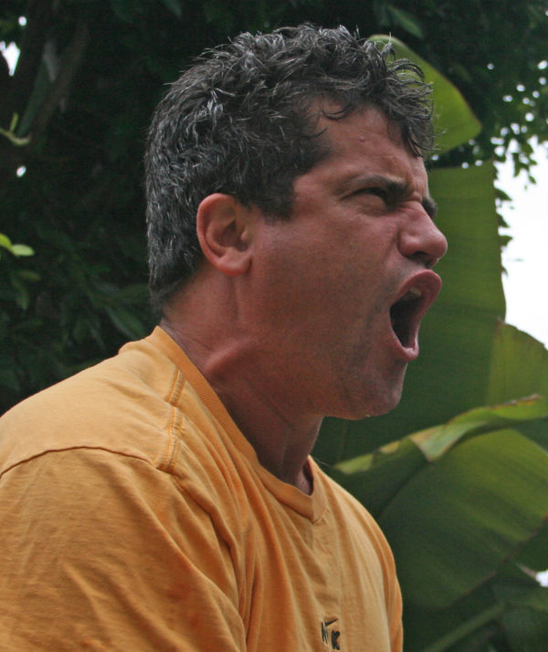 picture of a man yelling