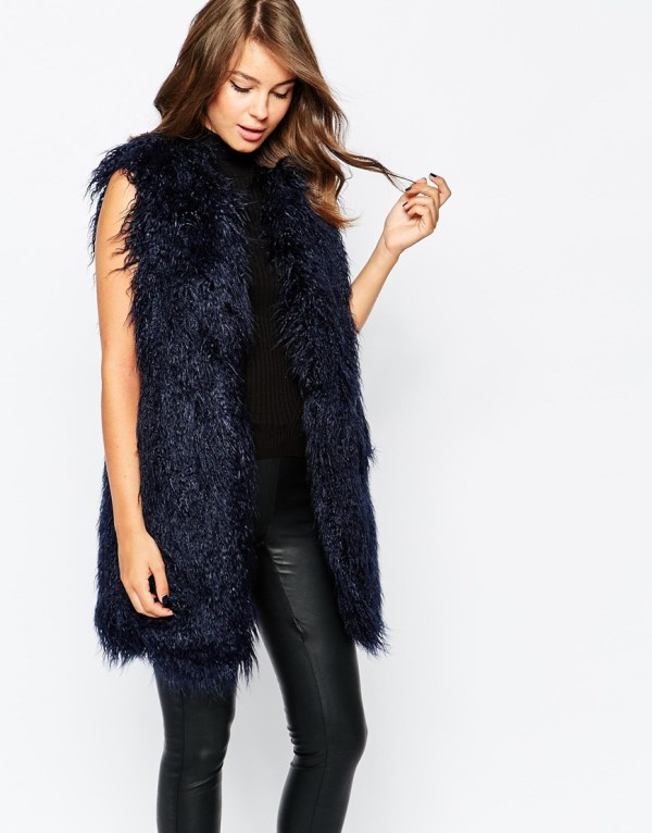 Chicago faux fur gilet, French Connection