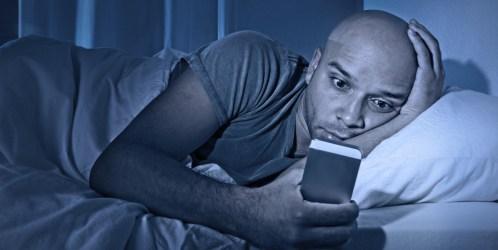 phone addict in bed good night