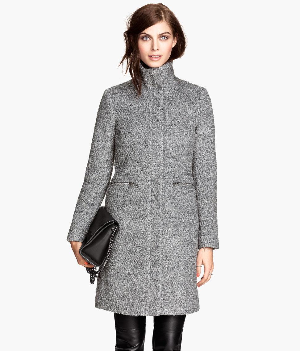 H&M boucle coat