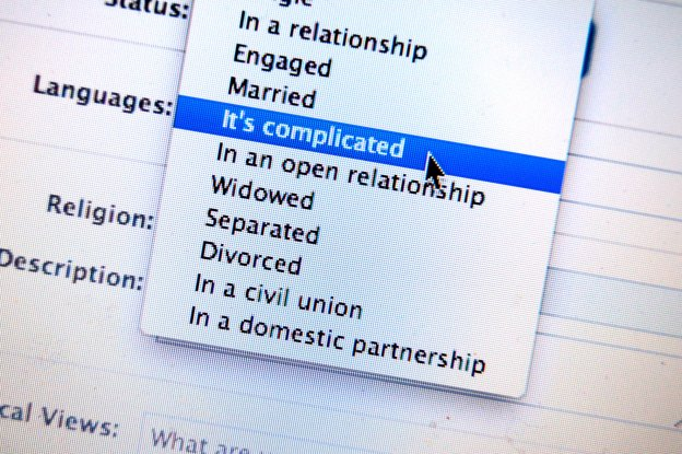 Facebook status, 'it's complicated'