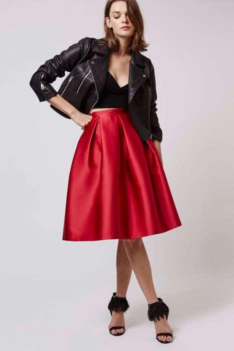 Topshop Satin Promo Midi Skirt - £60