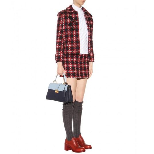 Miu Miu Check Wool Skirt - £430
