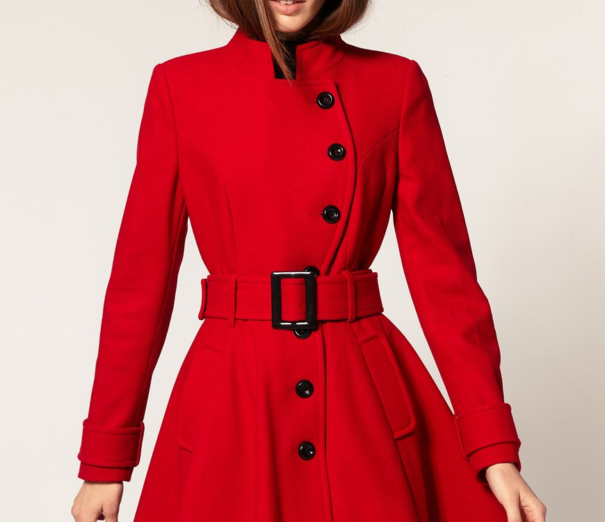 ASOS Asymmetric Fit and Flare Coat rrp £90.00 now £35.00