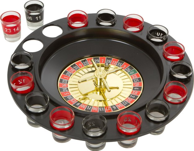 Spin and shot drinking game