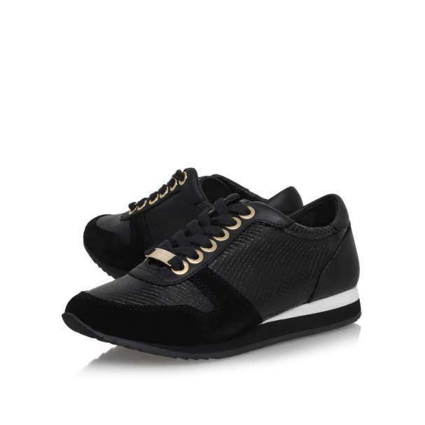 Flat lace up trainers