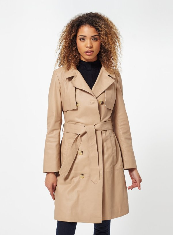 Miss Selfridge leather trench
