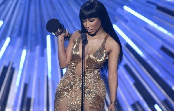 Nicki Minaj calling out Miley Cyrus at last year's VMAs via YouTube