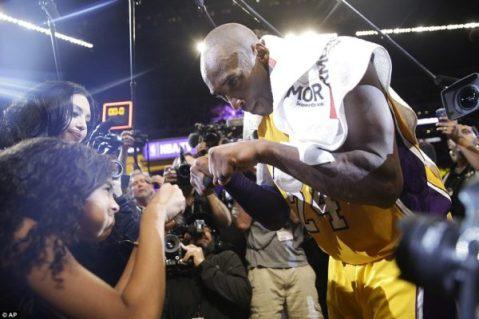 Kobe and famiy