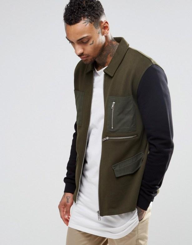 Asos jersey jacket